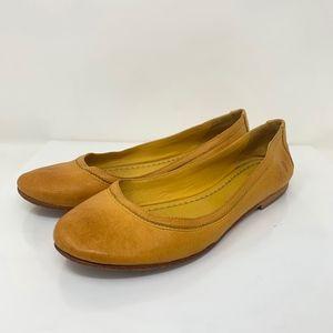 Frye Carson Ballet Flats Leather Slip On Round Toe